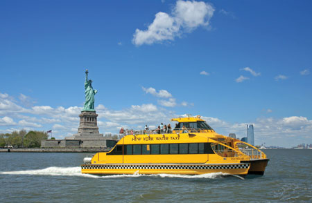 New York Water Taxi and Statue of Liberty