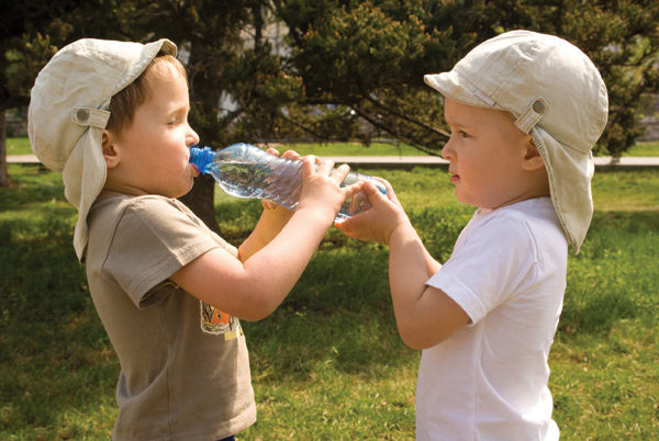 Sharing water bottles, which may transmit saliva, can increase a youngster's risk of contracting meningococcal meningitis, commonly known as meningitis.