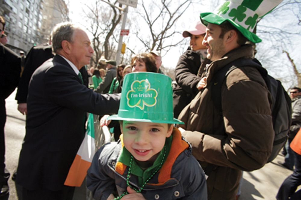 Mayor Bloomberg at NYC St. Patrick's Day Parade