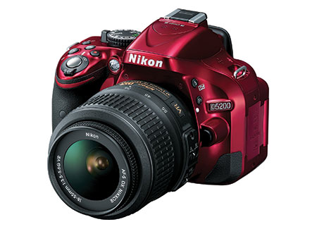 Nikon D5200 Digital SLR Camera with 18-55mm Lens (Red)