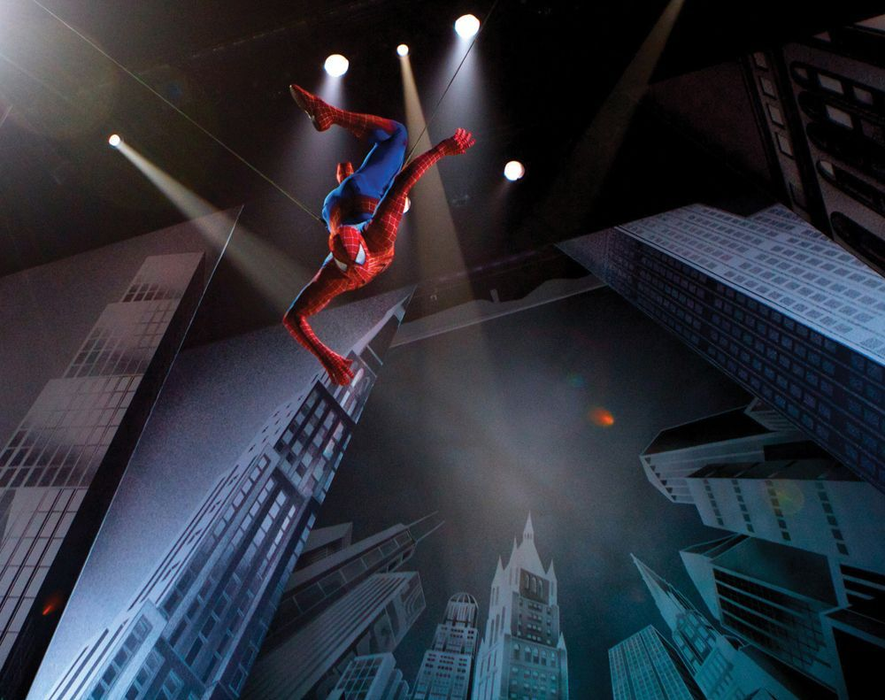 Spider Man on Broadway