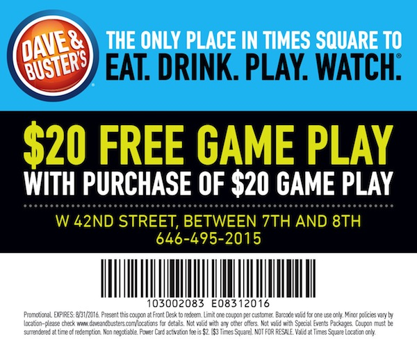 Dave & Buster's  Coupon