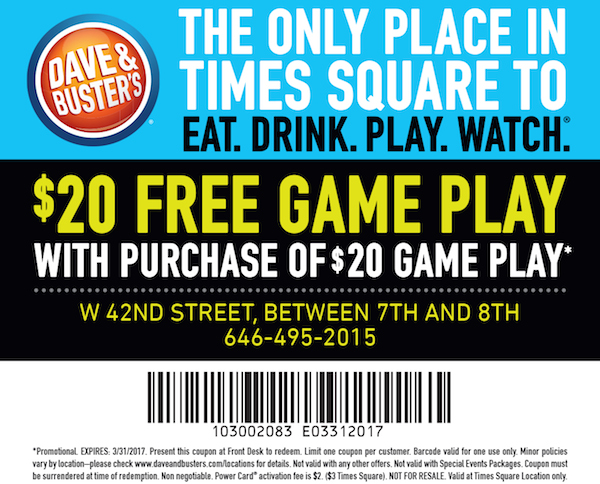 dave and busters printable coupons dave amp busters 21305 | DaveandBusters half 12161