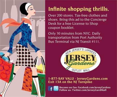 Jersey gardens coupons
