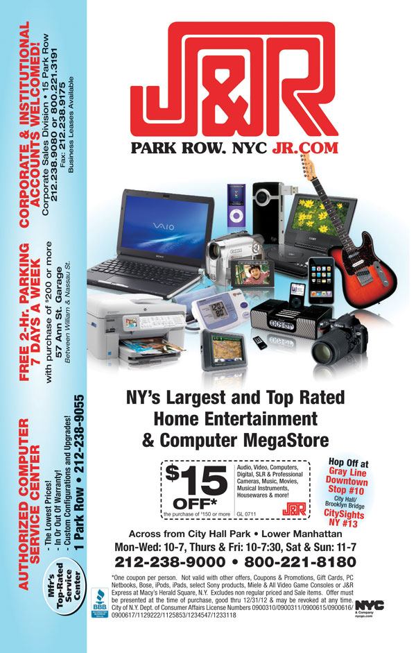 j amp r music and computer world coupon city guide magazine