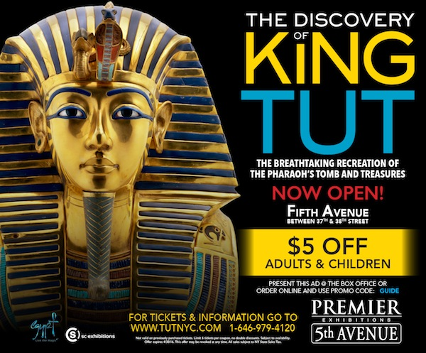 Premier Exhibitions  - $5 off admission to King Tut Exhibition, adults and children.  Expires: 4/30/2016