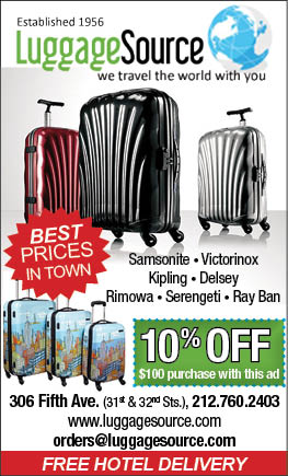 Luggage Source  - Take 10% off with this ad  Expires: 12/31/2016