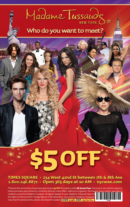 Madame tussauds wax museum nyc coupons