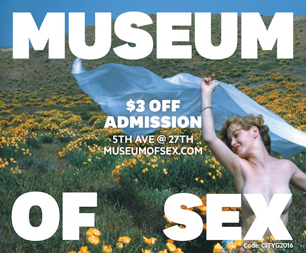 Museum of Sex  - $3 off admission. Expires: 12/31/2016