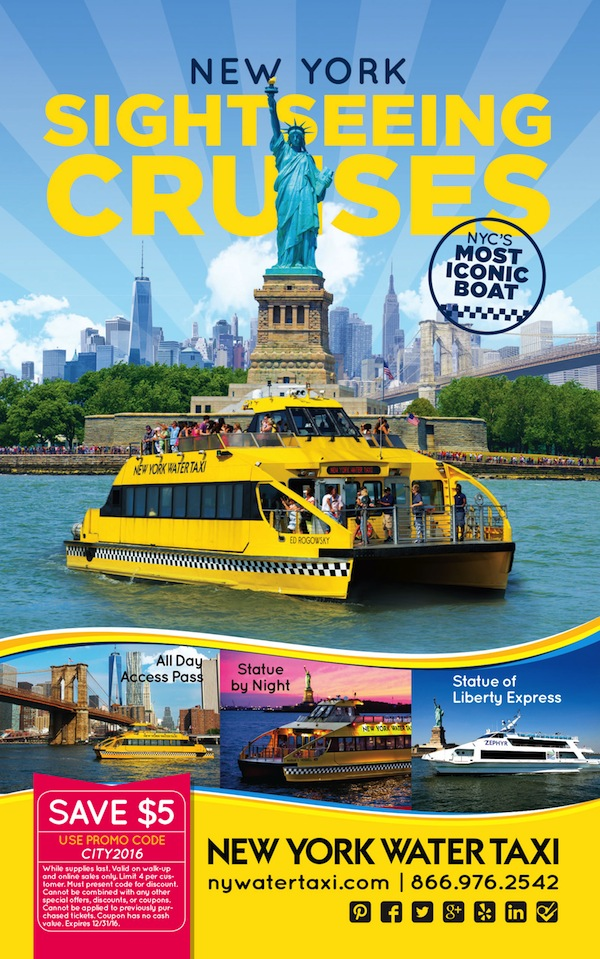 New York Water Taxi  - $5 off  Expires: 12/31/2016