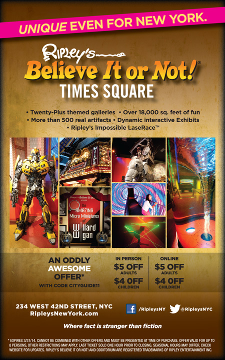 Ripley's believe it or not discount coupons