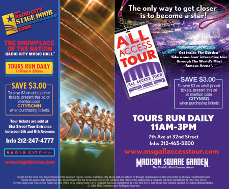Madison Square Garden All Access Tour Coupon
