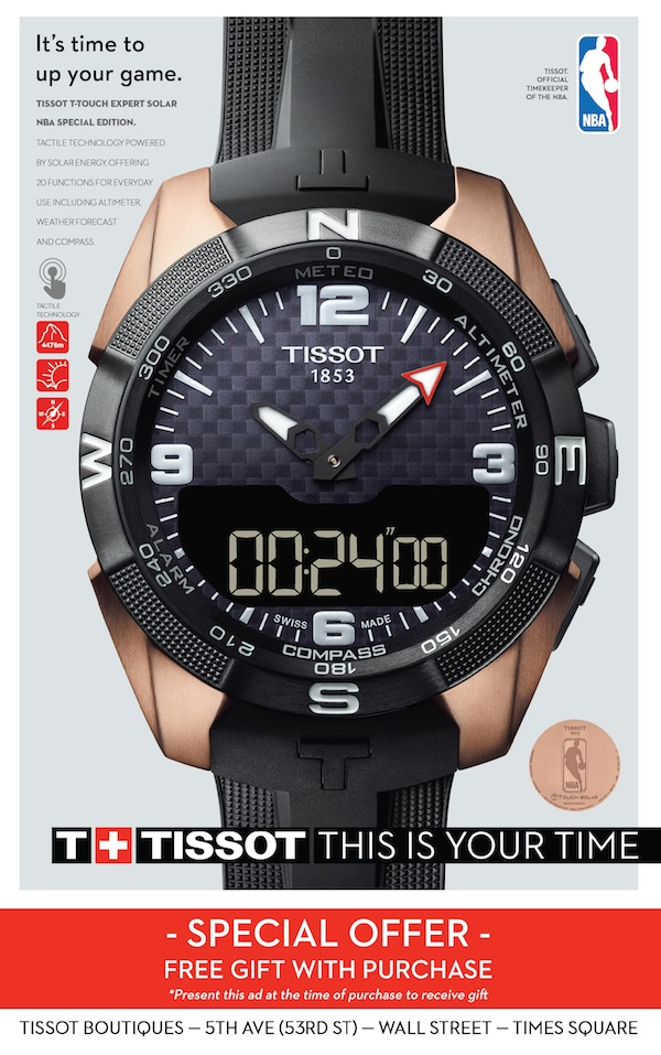 Tissot  - Free gift with purchase.  Expires: 12/31/2016