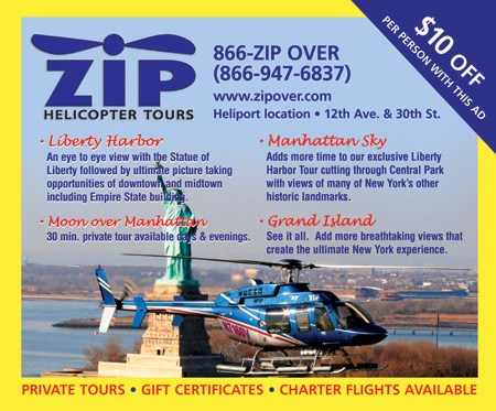 Zip Helicopter Tours