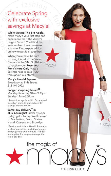 Never miss another coupon. Be the first to learn about new coupons and deals for popular brands like Macy's with the Coupon Sherpa weekly newsletters.