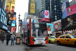 Open Bus Tour in Times Square, New York City