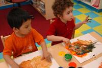 kids painting; art class