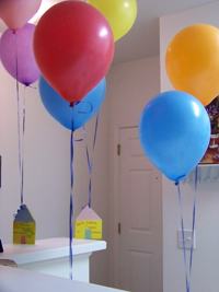 birthday parties, kids parties, children's birthday, guide, 2010; balloons at a birthday party