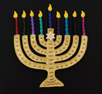 Holiday craft fair, menorah, Hanukkah