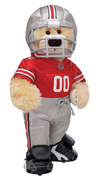 Build-a-Bear's Champ Bear in Ohio State University gear
