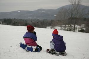 snowshoe, children snowshoeing