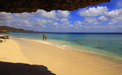 beach in Curacao, Caribbean