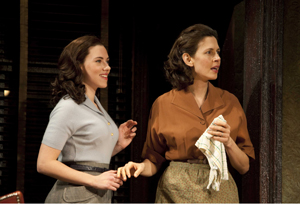 Jessica Hecht and Scarlett Johansson on Broadway