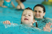 Little ones learn to swim at the 14th Street Y.