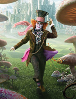 Johnny Depp as the Mad Hatter, Alice in Wonderland 2010