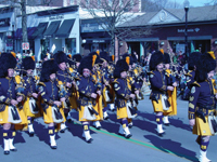 St. Patrick's Day parade in Westchester County, NY; Westchester County Police Emerald Society Pipes and Drums