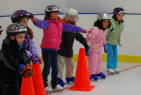 Fairfield Ice Academy; children skating; kids ice skating; ice skating lessons