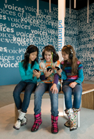 Voices of Liberty Exhibit at the Museum of Jewish Heritage's Keeping History Center; children at a museum