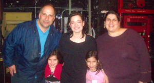 Backstage at Mary Poppins with Laura Michelle Kelly