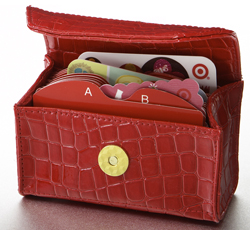 Card Cubby in Really Red