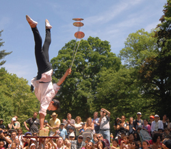 Daring feats at Van Cortlandt Manor. Photo by Bryan Haeffele.