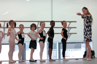 School of American Ballet auditions; ballet studio; young ballerinas