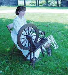 Old Bethpage Village Restoration; wool spinning; weaving