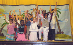 Brooklyn Free School; children putting on a play