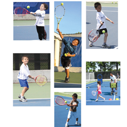 Queens tennis camp; kids summer tennis camp; kids playing tennis; Cunningham Sports Center