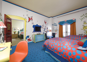 Loews Portofino Bay Hotel's Dr. Seuss Kids Suite