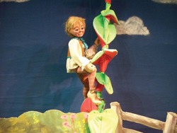 Jack & the Beanstalk with puppets; marionettes perform Jack and the Beanstalk