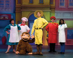 Curious George Live! at Nassa Coliseum; cast