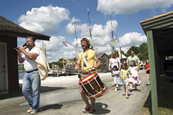 Sea Music Festival at Mystic Seaport; Mystic parade; children's parade