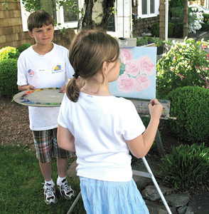 child painting; creative classes, art programs in Rockland County, NY for kids