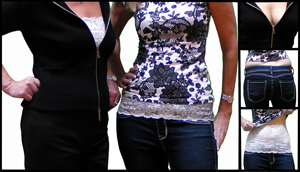 the camiband; lace cami band