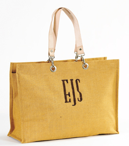 Ballard Designs Monogrammed Jute Carry-All