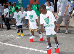 PAL 2010 Summer Play Streets Program; kids playing in the street