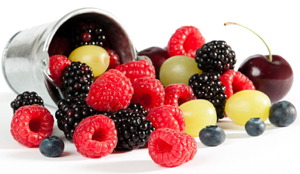 fall berries; raspberries, blackberries, blueberries, currants, and cherries