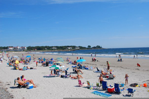 New England beach; beach in Kennebunk region, Maine