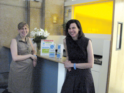 Co-directors Sara Kuppin Chokshi and Kimberly Busi at The Quad Manhattan center.